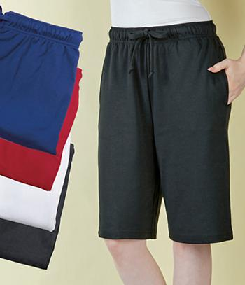 Cotton Knit Shorts - Black