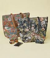 Tapestry Tote - Birds and Berries