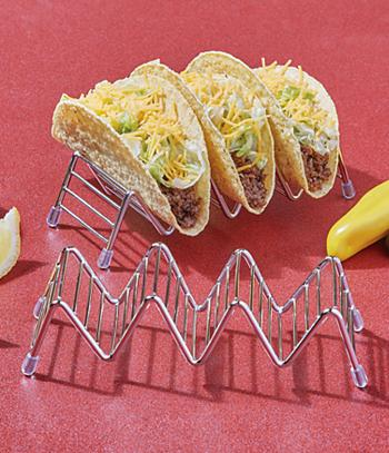 Stainless Steel Taco Racks - Set of 2