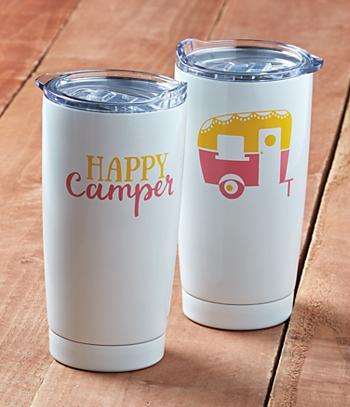 Happy Camper Travel Tumbler