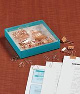 Rose Goldtone Desk Set
