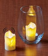 Moving Flame Votive Candles - Set of 2