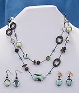 Iridescent Bead Necklace