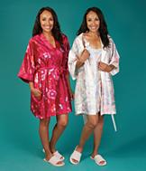 Pastel Floral Chemise and Robe Set