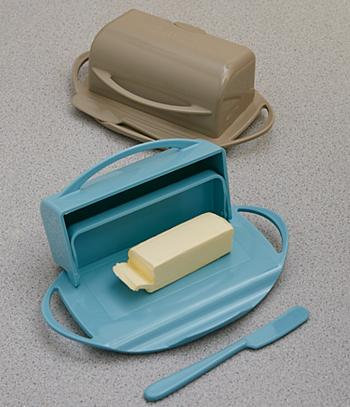 Flip-Top Butter Dish - Taupe
