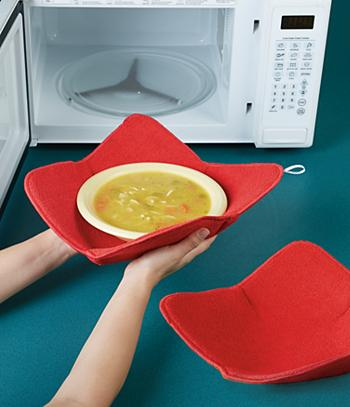 Microwave Bowl and Plate Holders - Set of 2
