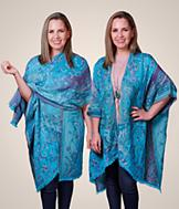 Turquoise Kimono Wrap
