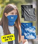 Mission Youth Cooling Gaiter - Charcoal and Black