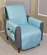 Reversible Recliner Protector - Taupe/Beige