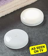 Motion-Activated Puck Lights - Set of 2