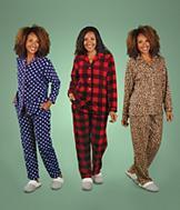 Plush Pajamas - Blue Polka Dot