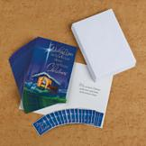 Nativity Scene Cards with Star Magnets - Set of 18