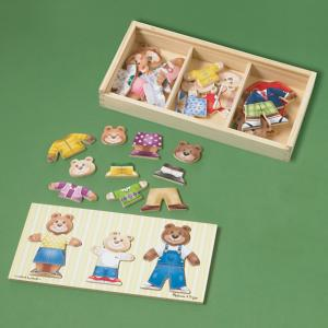 Dress-Up Bear Family Wooden Puzzle
