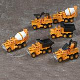 Construction Trucks - Set of 6