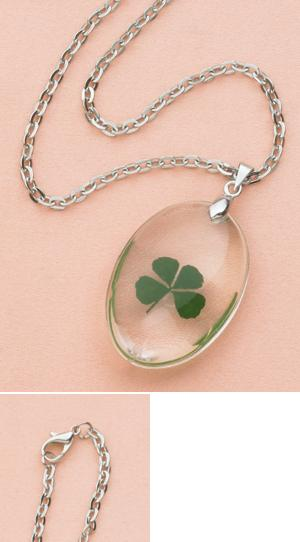 Hand-Picked Four-Leaf Clover Pendant