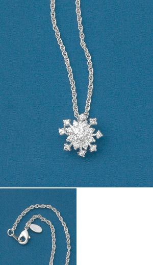 3D Snowflake Pendant
