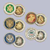 Armor of God Military Branch Challenge Coin