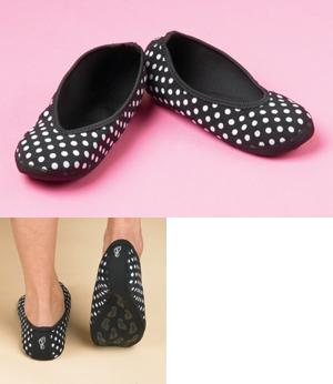 Nufoot Polka Dot Ballet Flats
