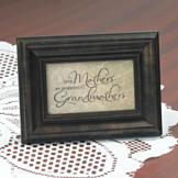 Great Mothers Are Promoted to Grandmothers Plaque