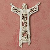 Rustic-Look Resin Crucifix