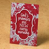 God's Promises are New Every Morning Plaque