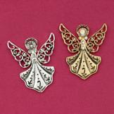 Filigree Design Guardian Angel Pin