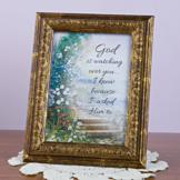 God is Watching Over You Plaque
