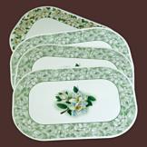 Reversible Magnolia Art Placemats - Set of 4