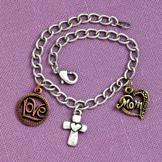 Stamped-Metal Charm Bracelet for Moms