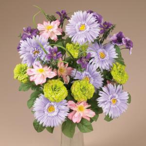 Silken Spring Flowers Bouquet