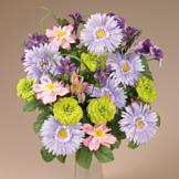 Silken Spring Flowers Bouquet