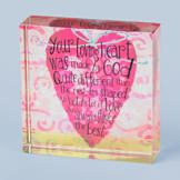 Your Loving Heart was Made by God Glass Plaque