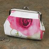Buxton Floral Design Change Purse with RFID Shield