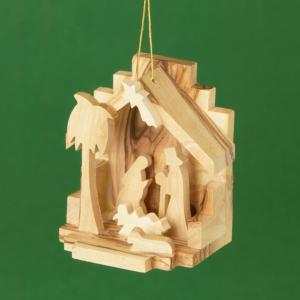 Christ's Birth Olive Wood Ornament