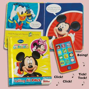Mickey Mouse Calling All Pals Book and Cellphone