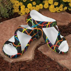 Dawgs Scribblz-Print Z-Strap Sandals