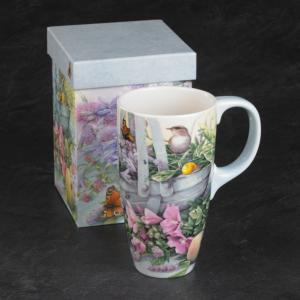 Garden-Themed Ceramic Mug with Gift Box
