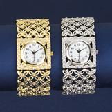 Geometric Floral Design Stretch Watch - Each