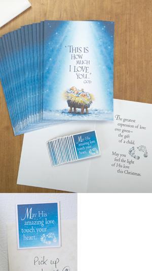 Manger Scene Cards with Magnets - Set of 18