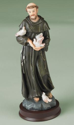 St. Francis with Birds Figurine