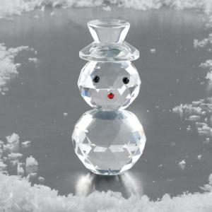 Glass Snowman Figurine
