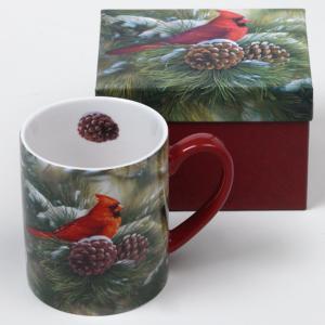 December Dawn Cardinal Mug with Gift Box