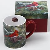 December Dawn Cardinal Mug with Gift Box