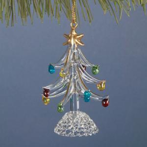 Spun Glass Christmas Tree Ornament