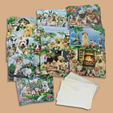 Furry Friends Greeting Cards - Set of 20