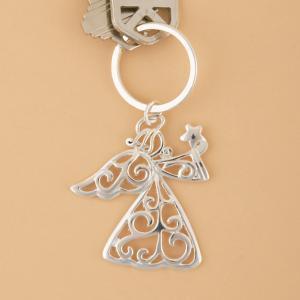 Filigree Guardian Angel Key Ring