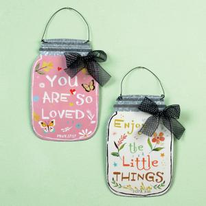 Mason Jar Wall Hanger with Scripture