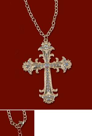 Crystal-Studded Cross Pendant