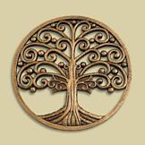 Tree of Life Antiqued Goldtone Plaque