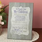 A Prayer for My Children Plaque